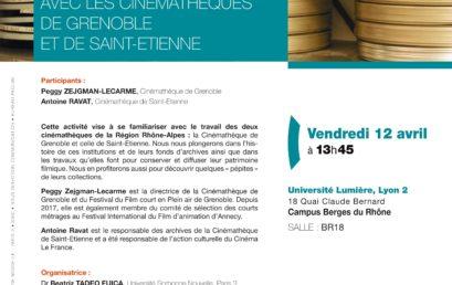 Conserver et diffuser le cinéma dans la région Rhône-Alpes