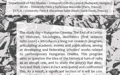 Cinéma hongrois, fin de siècle ? Histoires, sociologies, esthétiques