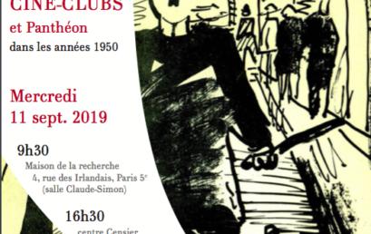 Cinémathèques, ciné-clubs et Panthéon dans les années 1950