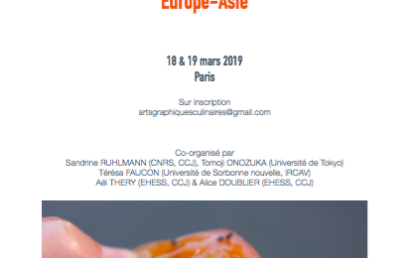Arts graphiques culinaires Europe-Asie