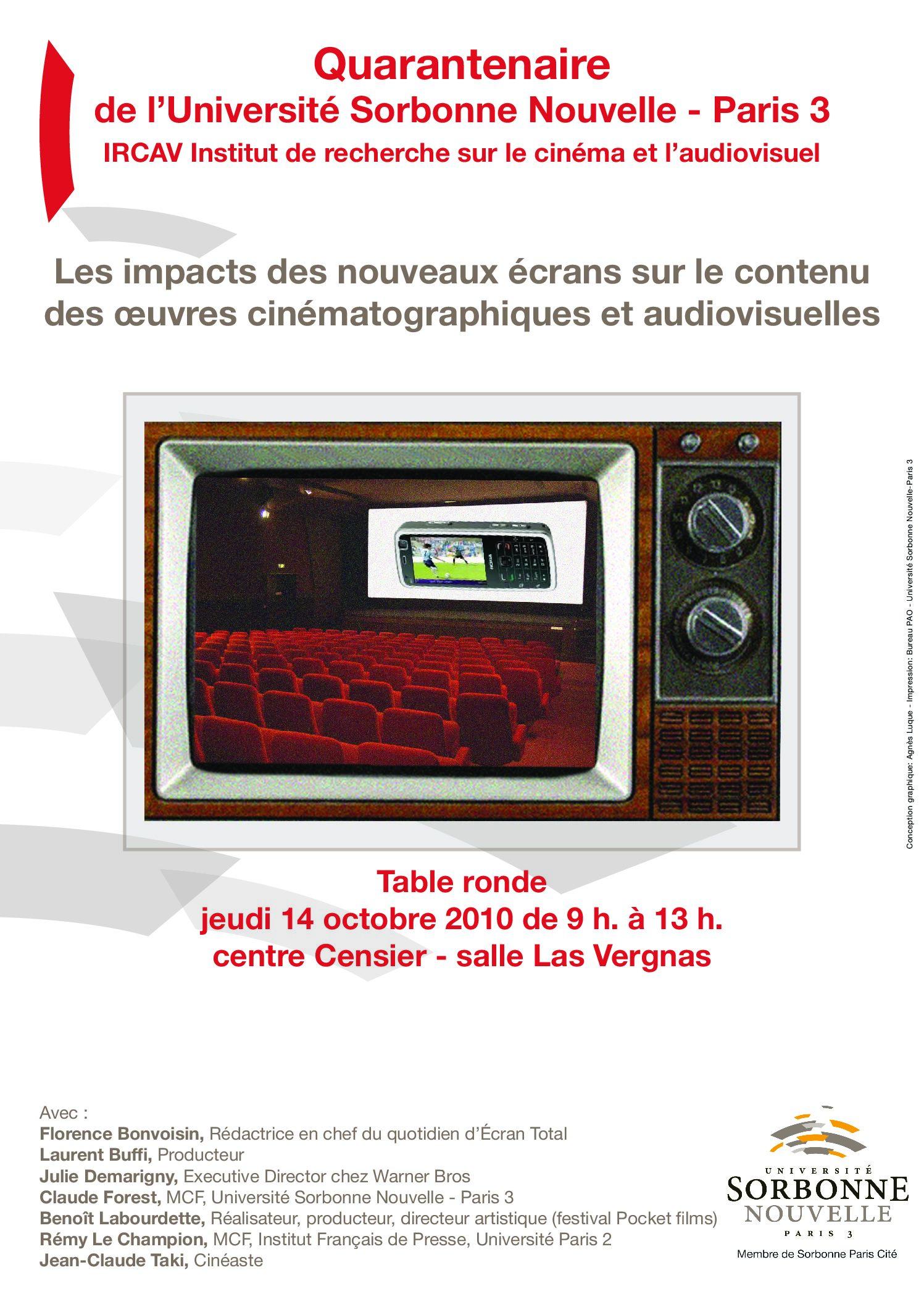 Les impacts des nouveaux écrans sur le contenu des œuvres cinématographiques et audiovisuelles